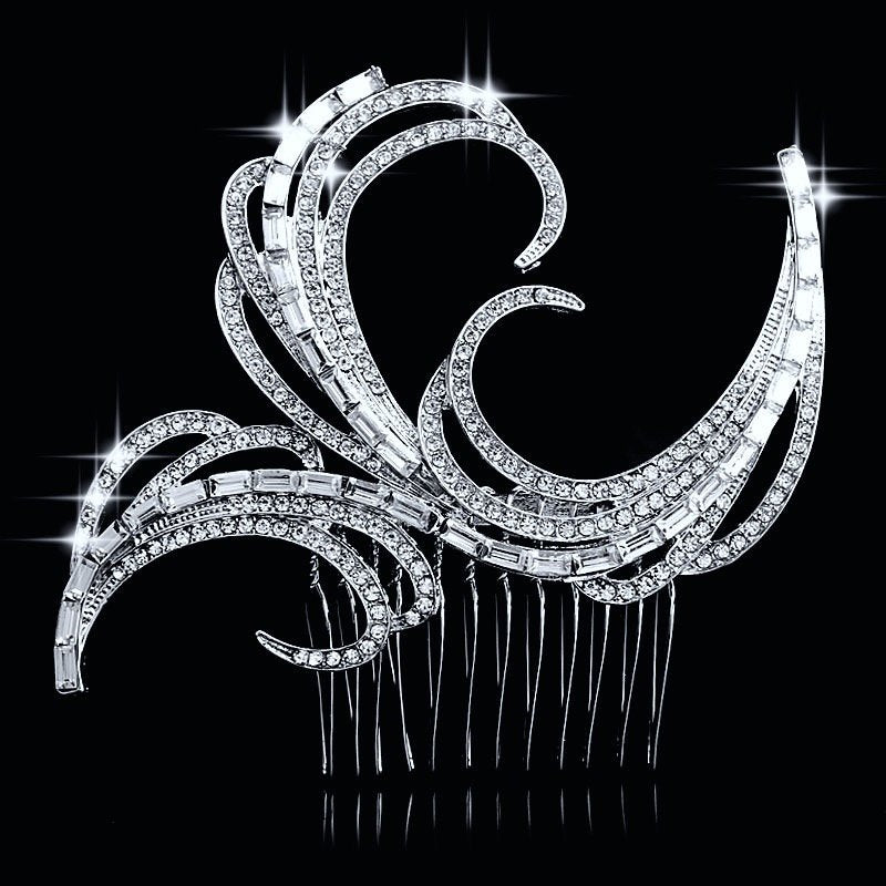 """Vienna"" - Crystal Bridal Hair Comb"