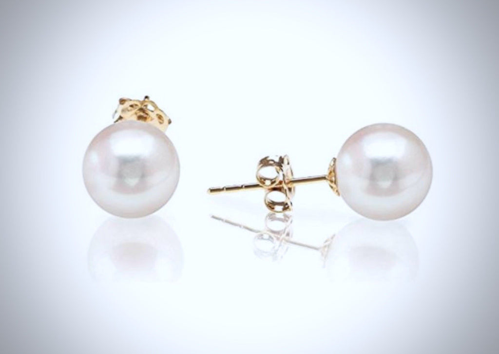 """Coco"" - Bridal Freshwater Pearl Bracelet and Earrings Jewelry Set"