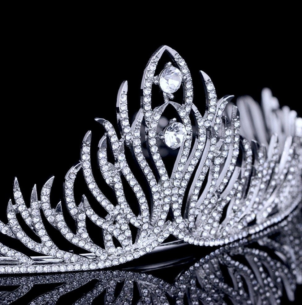 """Kendra"" - Wedding Cubic Zirconia Tiara"