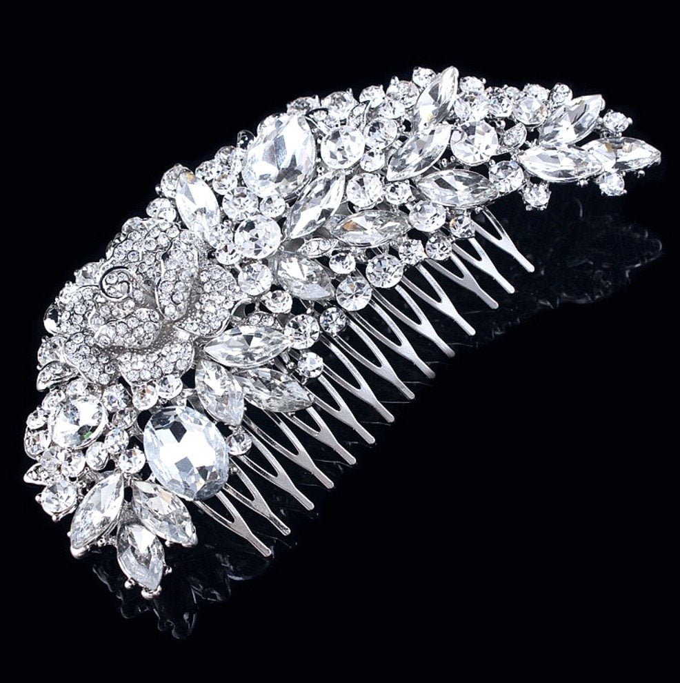 Wedding Hair Accessories - Austrian Crystal Bridal Hair Comb