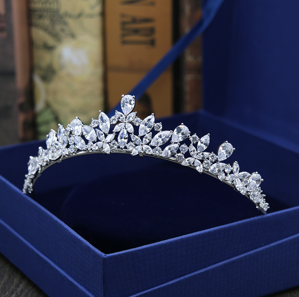 Wedding Hair Accessories - Wedding Cubic Zirconia Tiara