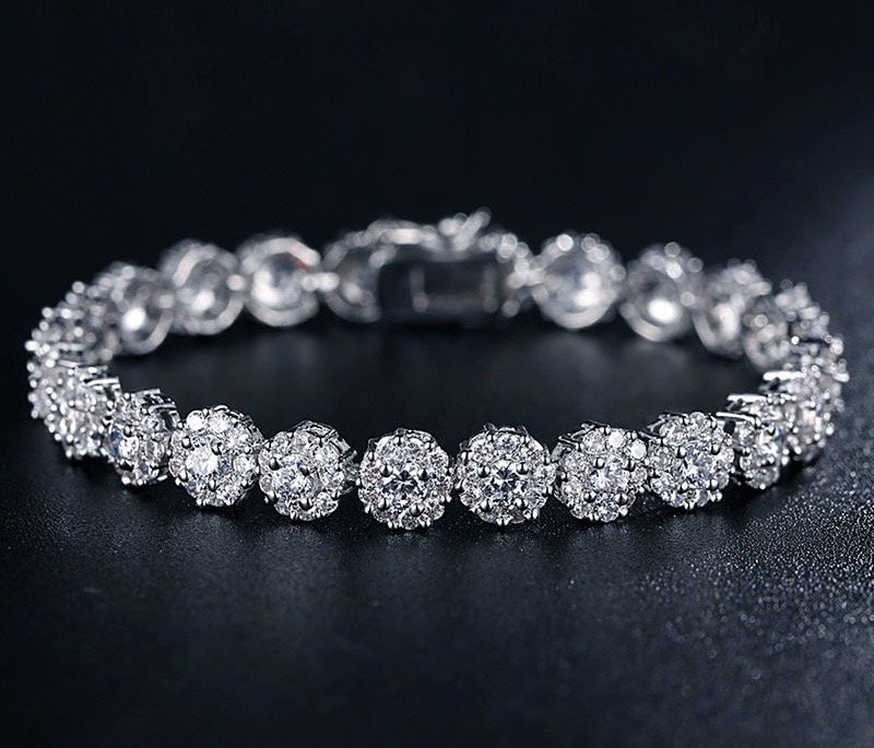 """Ingrid"" - Cubic Zirconia Bridal Bracelet - Available in Rose Gold and Rhodium"