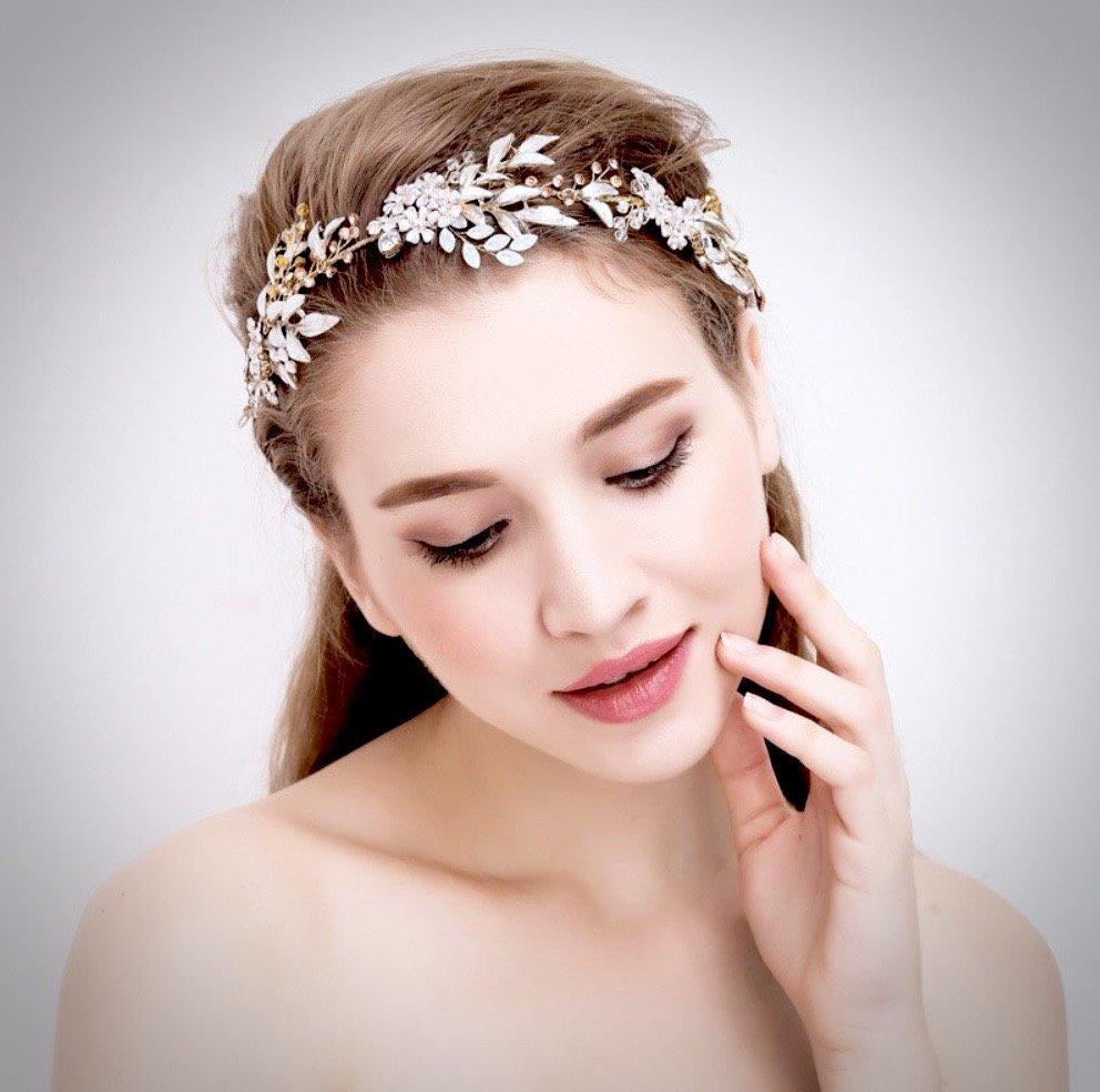 """Ivy"" - Bohemian Gold Crystal Headband or Hair Comb"