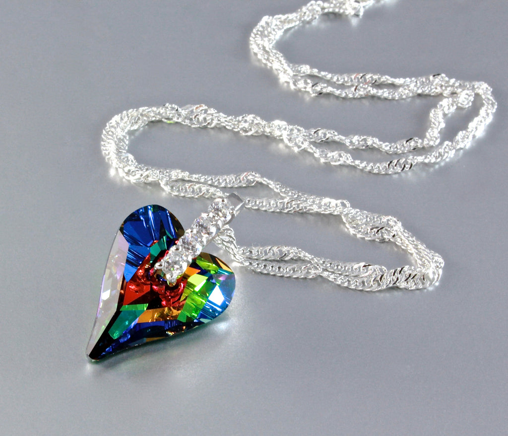 """Wild Heart"" - Swarovski Crystal and Sterling Silver Necklace"