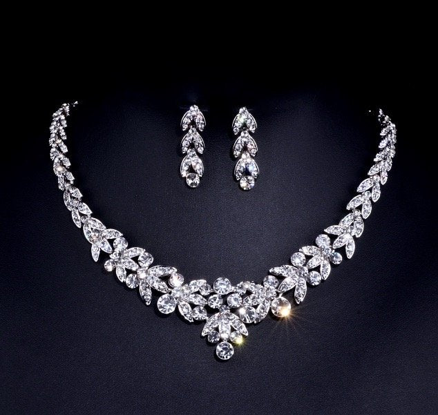 """Sadie"" - Crystal Bridal Jewelry Set"