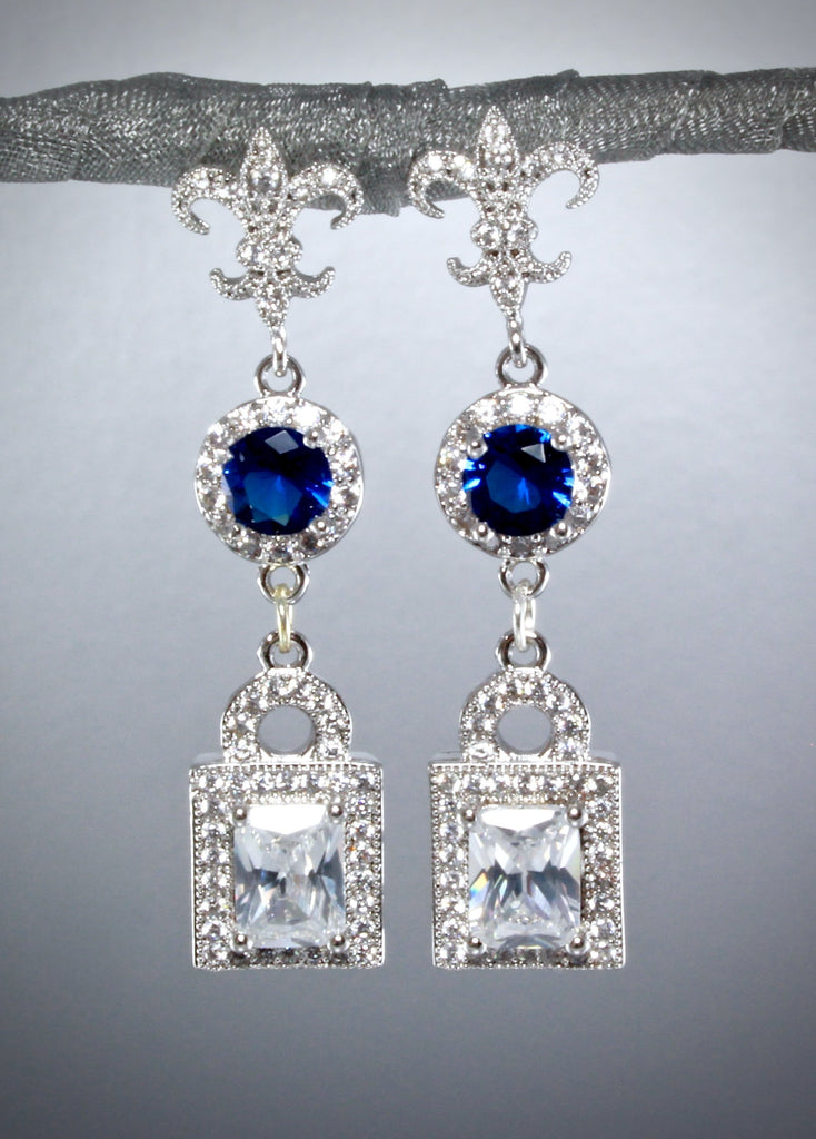 """Something Blue"" - Cubic Zirconia Earrings"