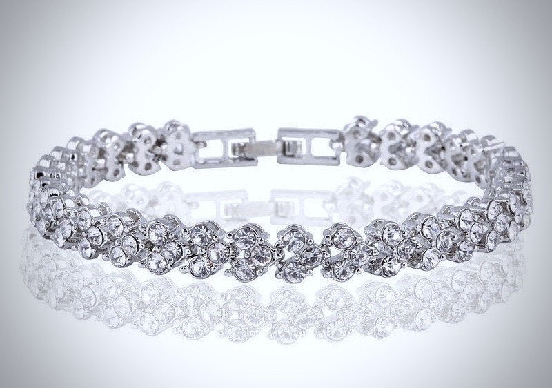"""Kiley"" - Cubic Zirconia Bracelets - Available in Silver, Yellow Gold and Rose Gold"