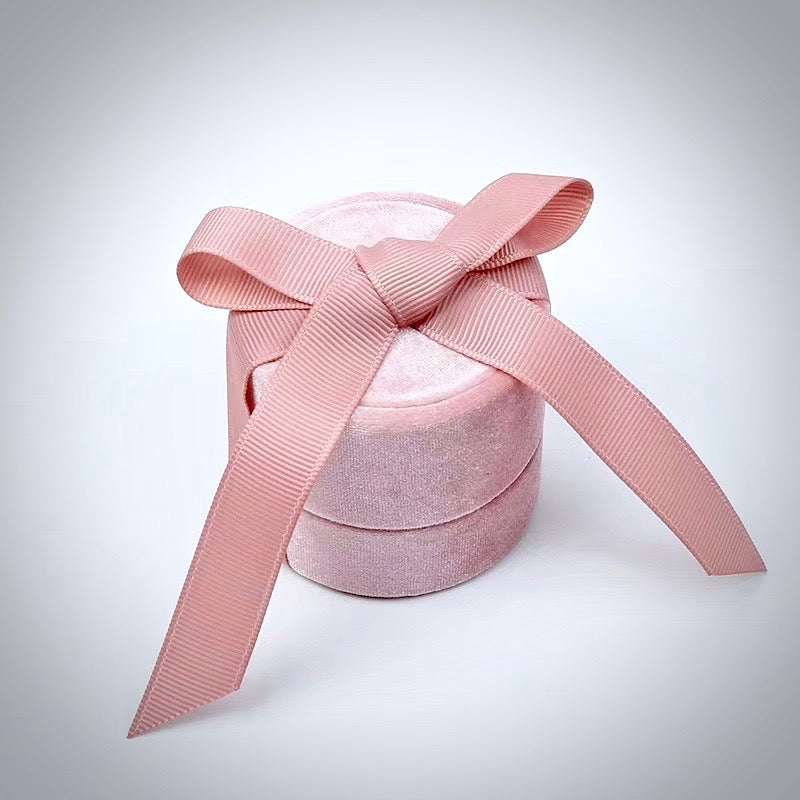 Wedding - Blush Velvet Ring Box