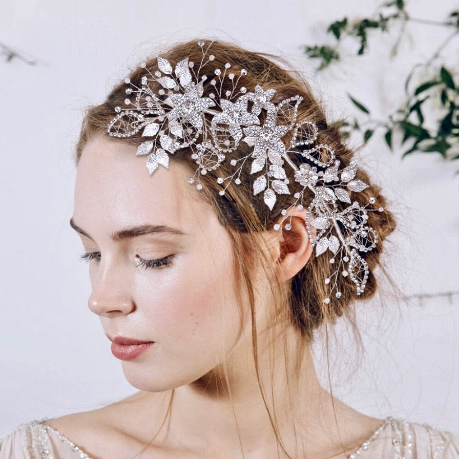 Wedding Hair Accessories - Crystal Bridal Headband - Available in Silver and Gold
