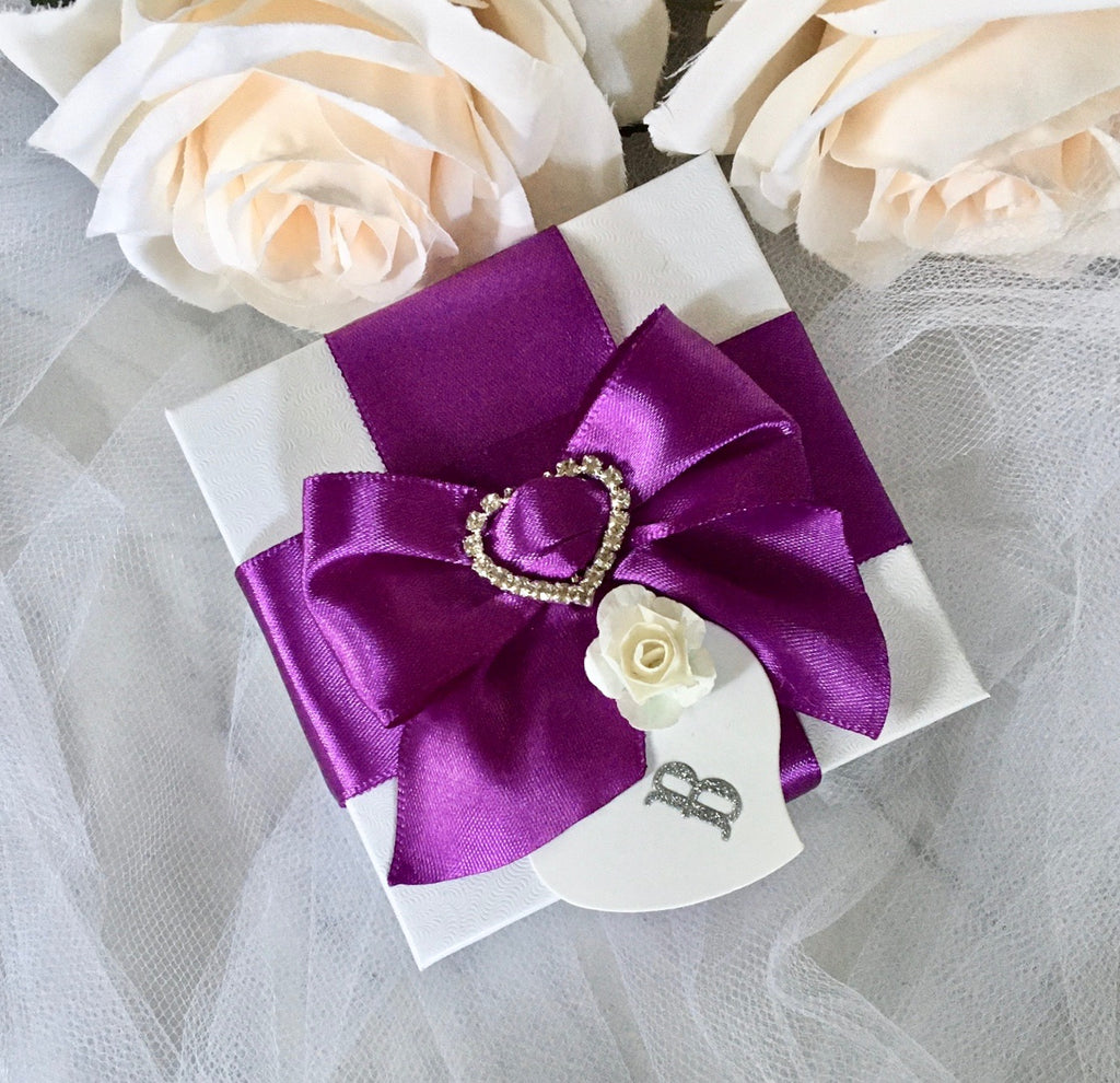 Wedding Accessories - Personalized Bridal Party Gift Box - More Colors Available
