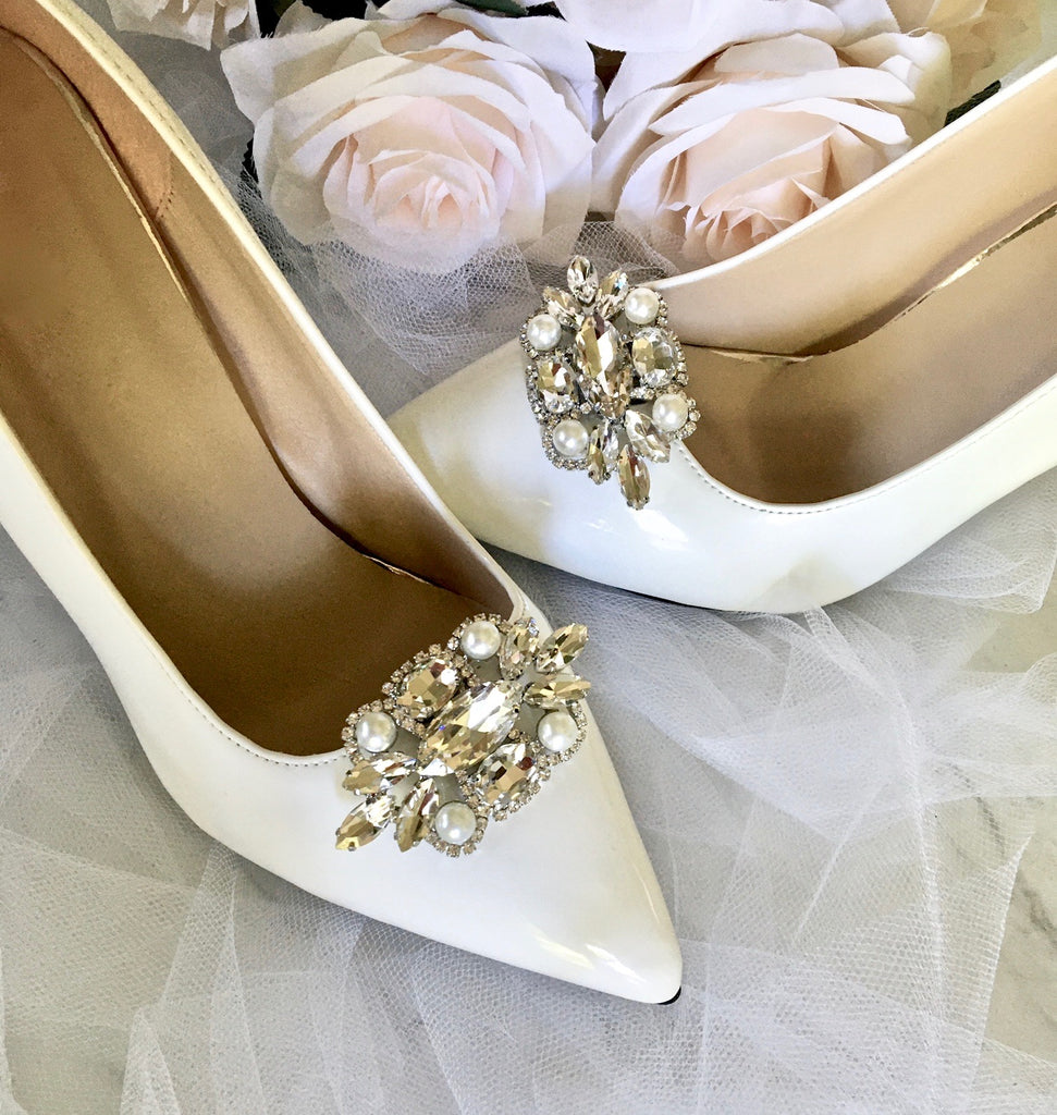 Wedding Accessories - Pearl and Crystal Bridal Shoe Clips