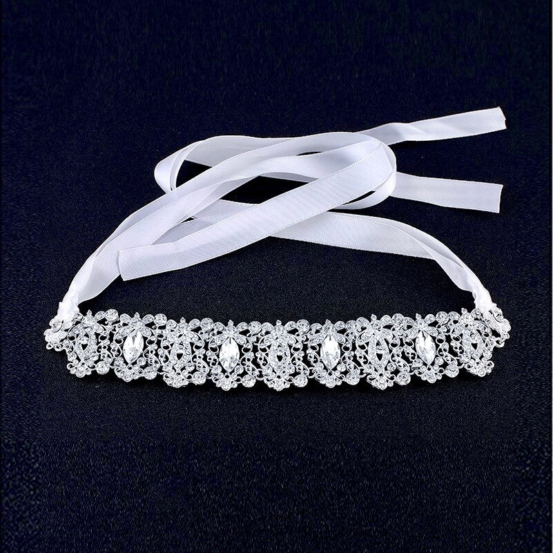 Wedding Hair Accessories - Silver Crystal Bridal Headband