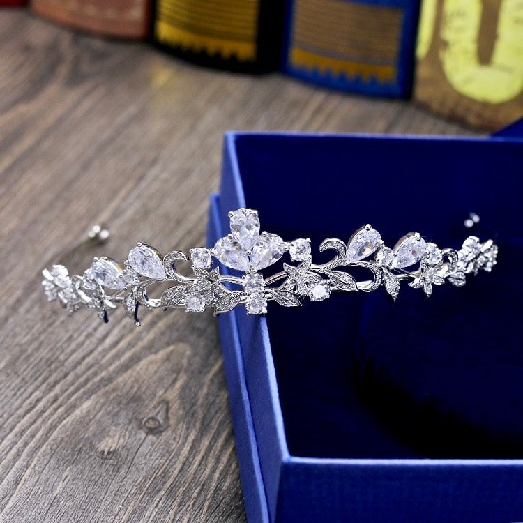 Wedding Hair Accessories - Cubic Zirconia Bridal Tiara