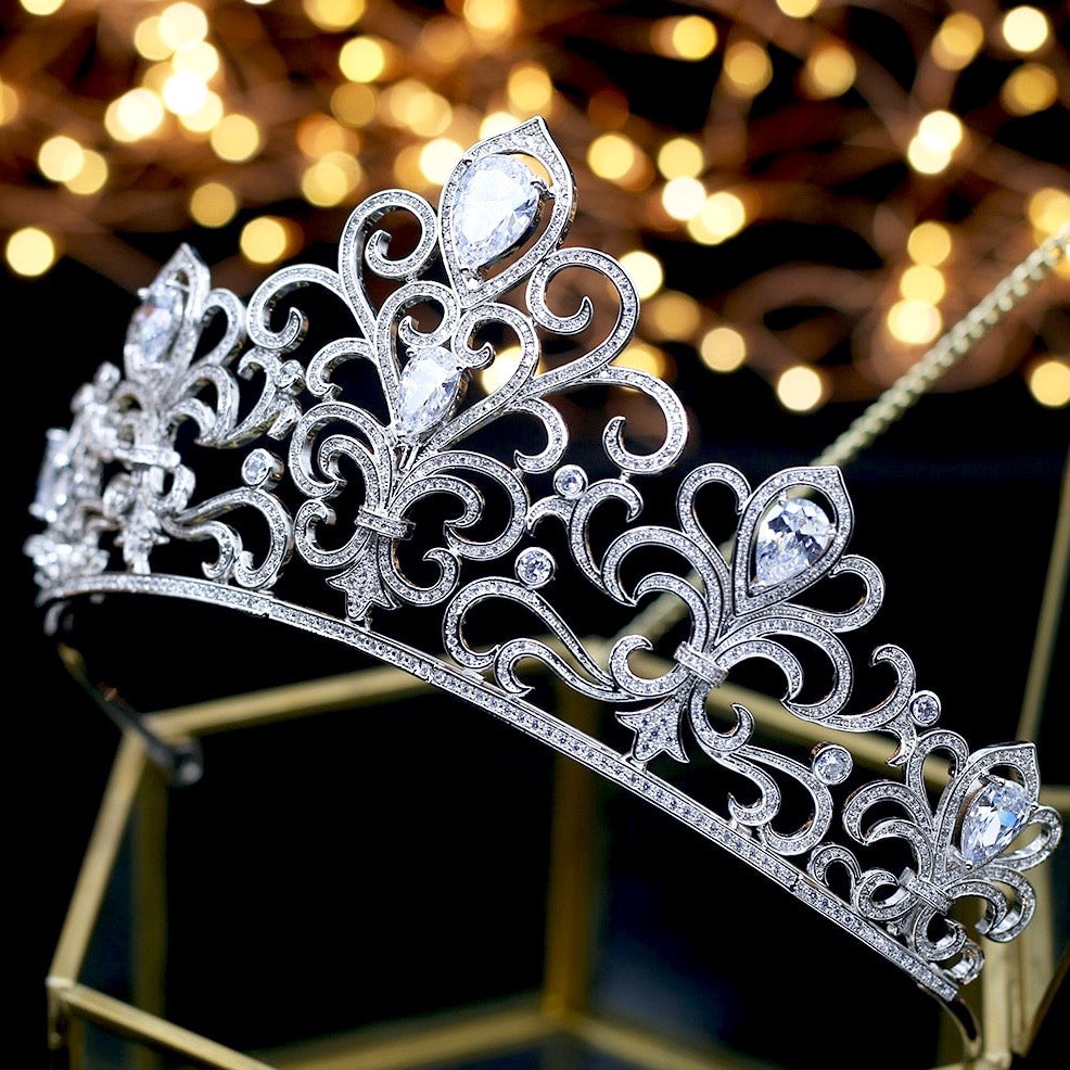 Wedding Hair Accessories - Bridal Cubic Zirconia Tiara