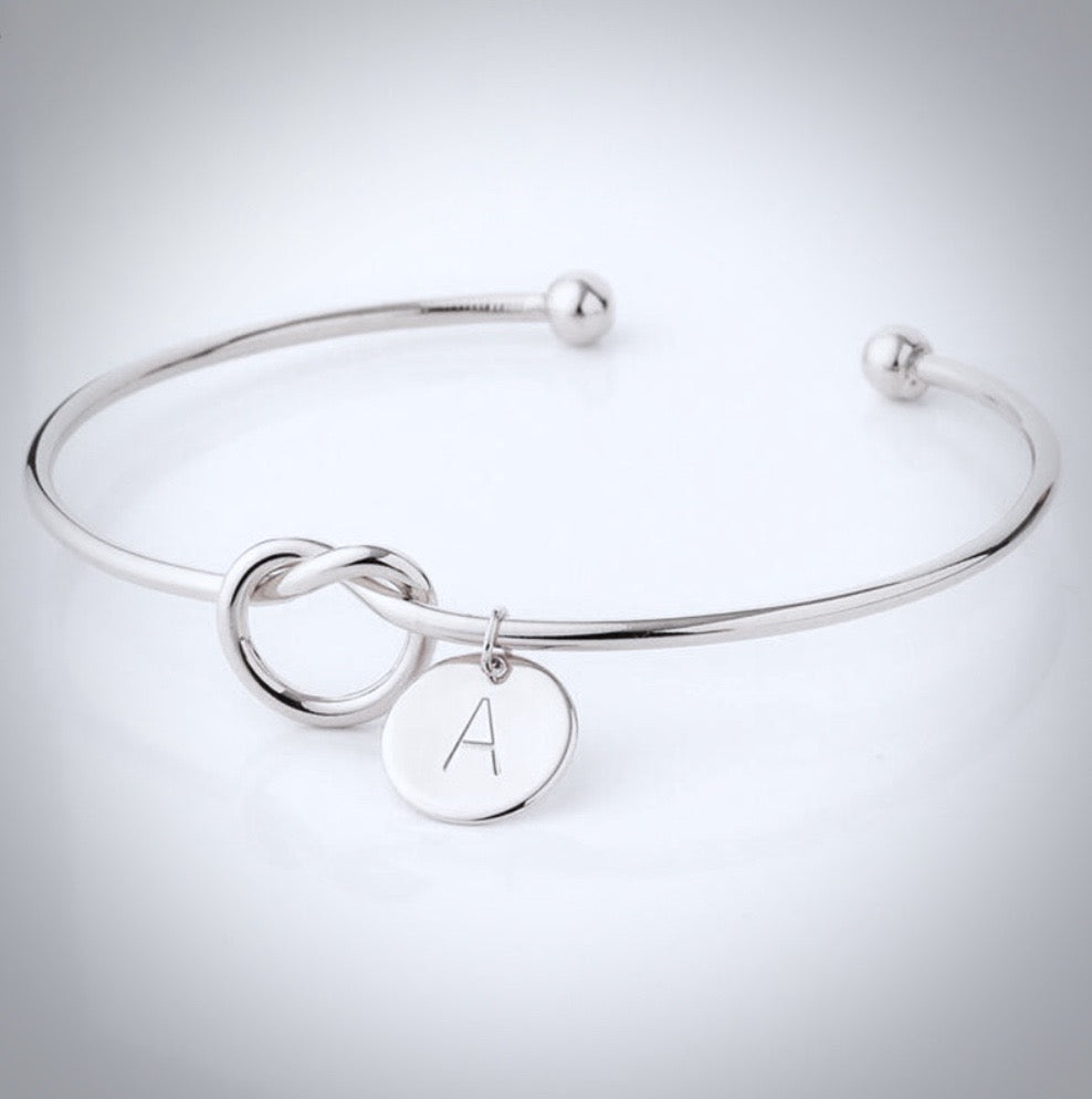 Bridal Party Gifts - Knot Bracelet - Available in Silver, Rose Gold and Yellow Gold