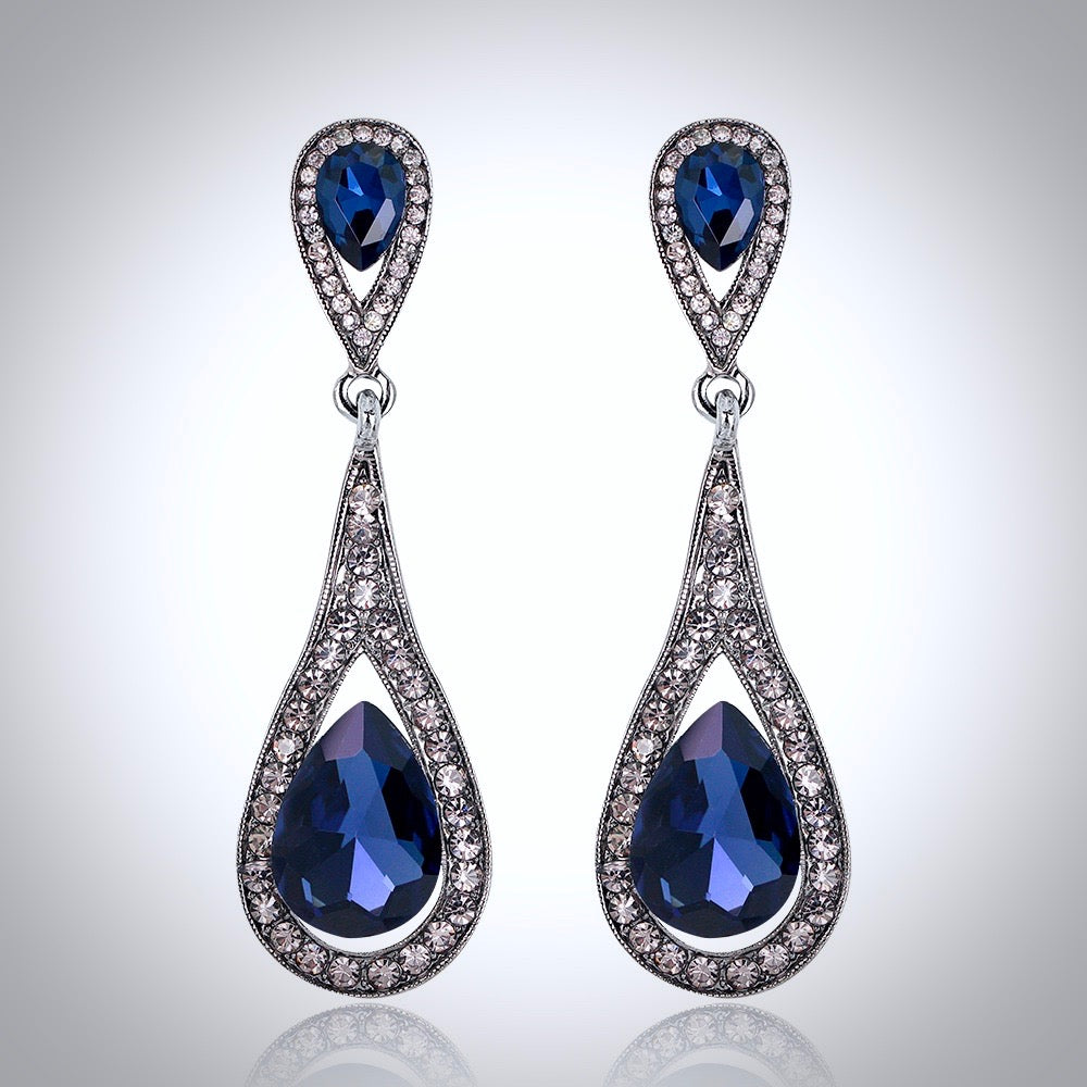 Wedding Jewelry - Crystal Bridal Earrings - More colors available