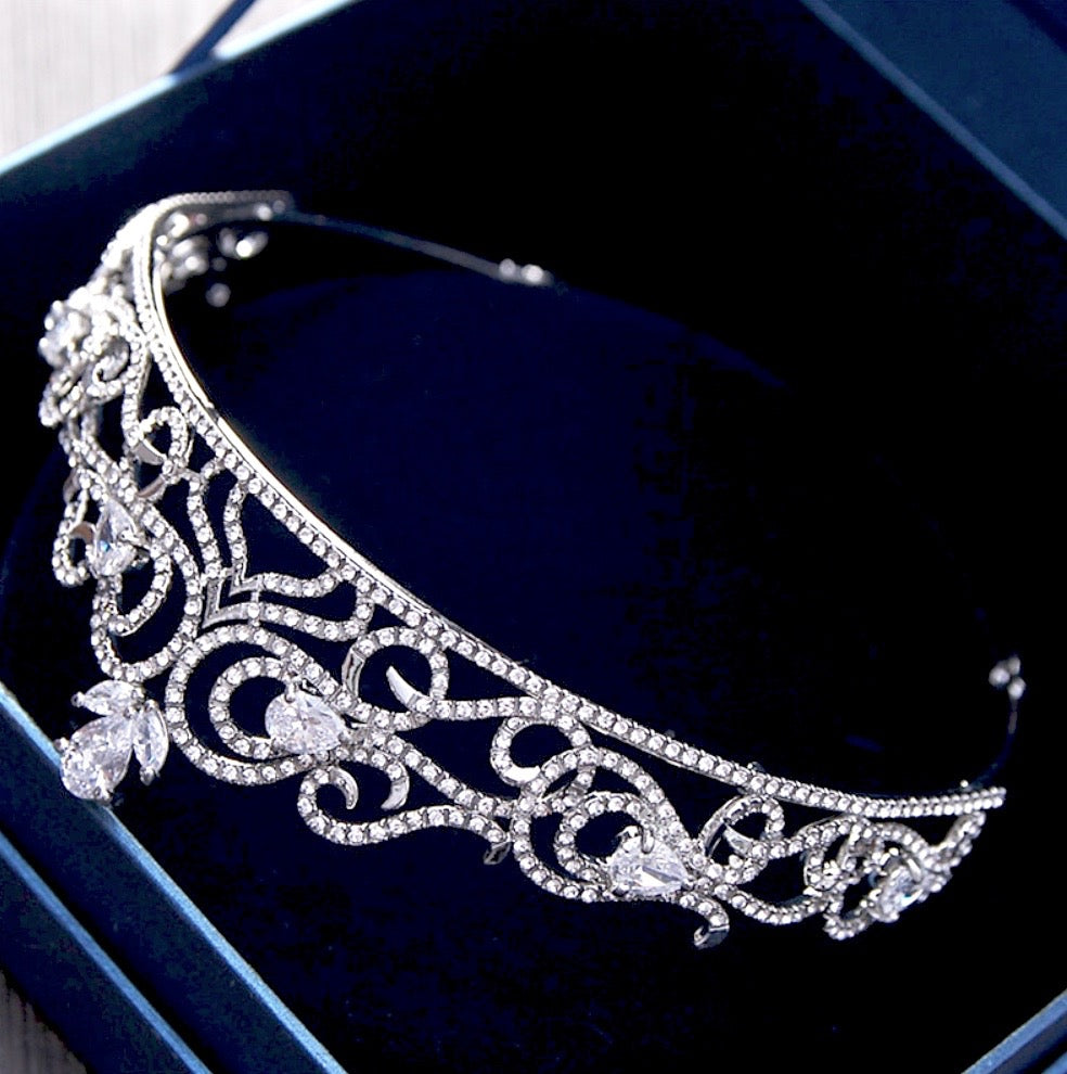 """Brielle"" - Crystal Bridal Tiara"