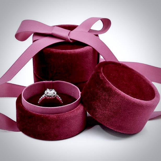 Wedding Accessories - Velvet Ring Box - More Colors Available