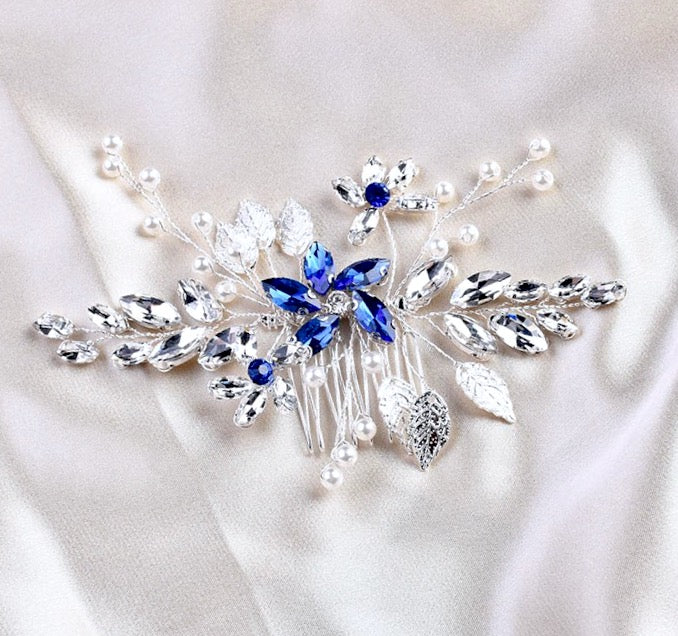 Wedding Hair Accessories - Pearl and Crystal Bridal Hair Comb - More Colors Available