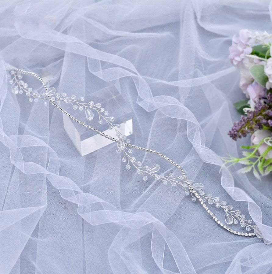 Wedding Hair Accessories - Crystal Bridal Headband / Hair Vine