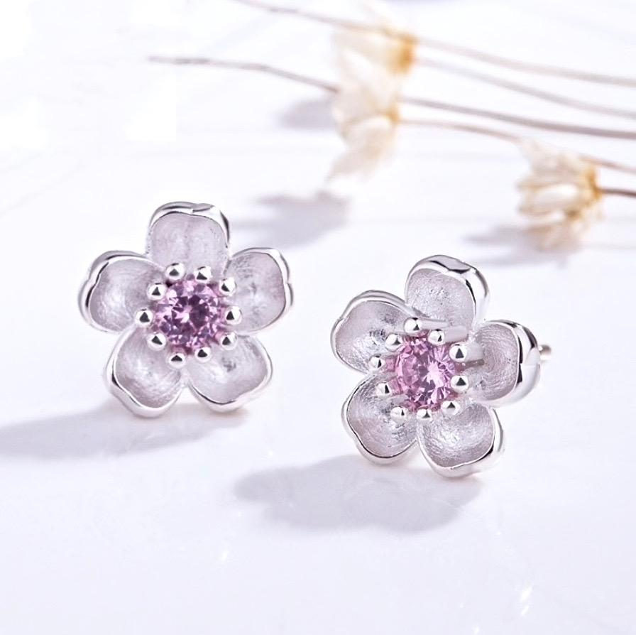 Bridal Party Gifts - Cherry Blossom Earrings and Bracelet Set, Flower Girl Gift