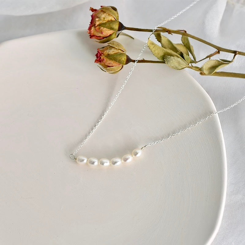 Wedding Jewelry - Freshwater Pearl Bridal / Bridesmaids Necklace