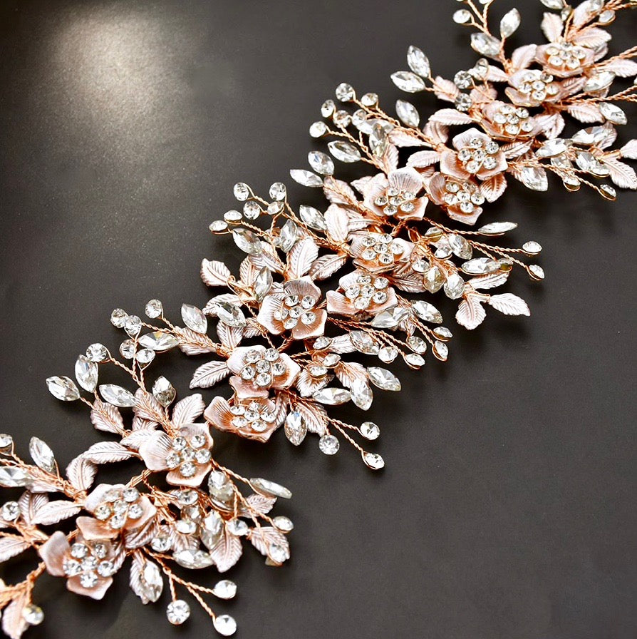Wedding Hair Accessories - Crystal Bridal Hair Vine - Available in Silver, Rose Gold and Yellow Gold