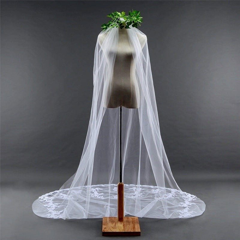Wedding Veils - Lace Edge Cathedral Bridal Veil