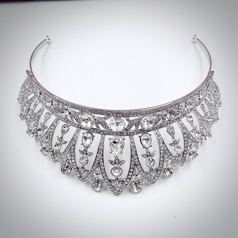 """Ericka"" - Wedding Crystal Tiara"