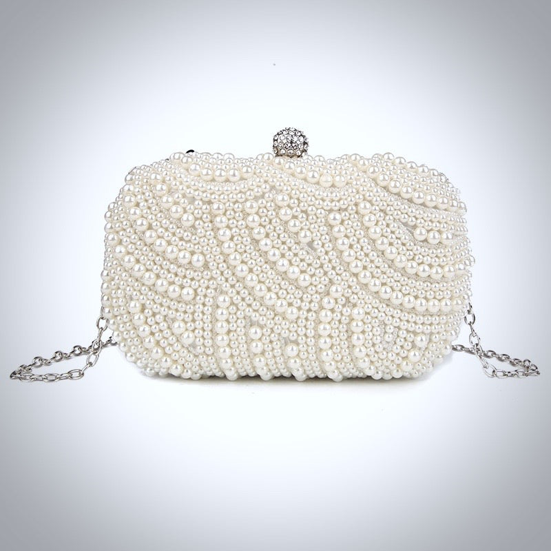 Wedding Handbags - Ivory Pearl Bridal Handbag Clutch