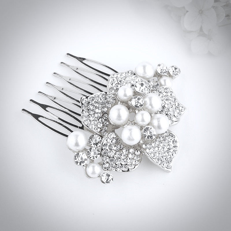 """Anika"" - Pearl Hair Comb - Available in Silver and Gold"