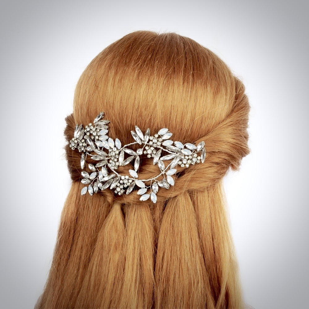 """Laurel"" -  Opal Bridal Hair Accessory"