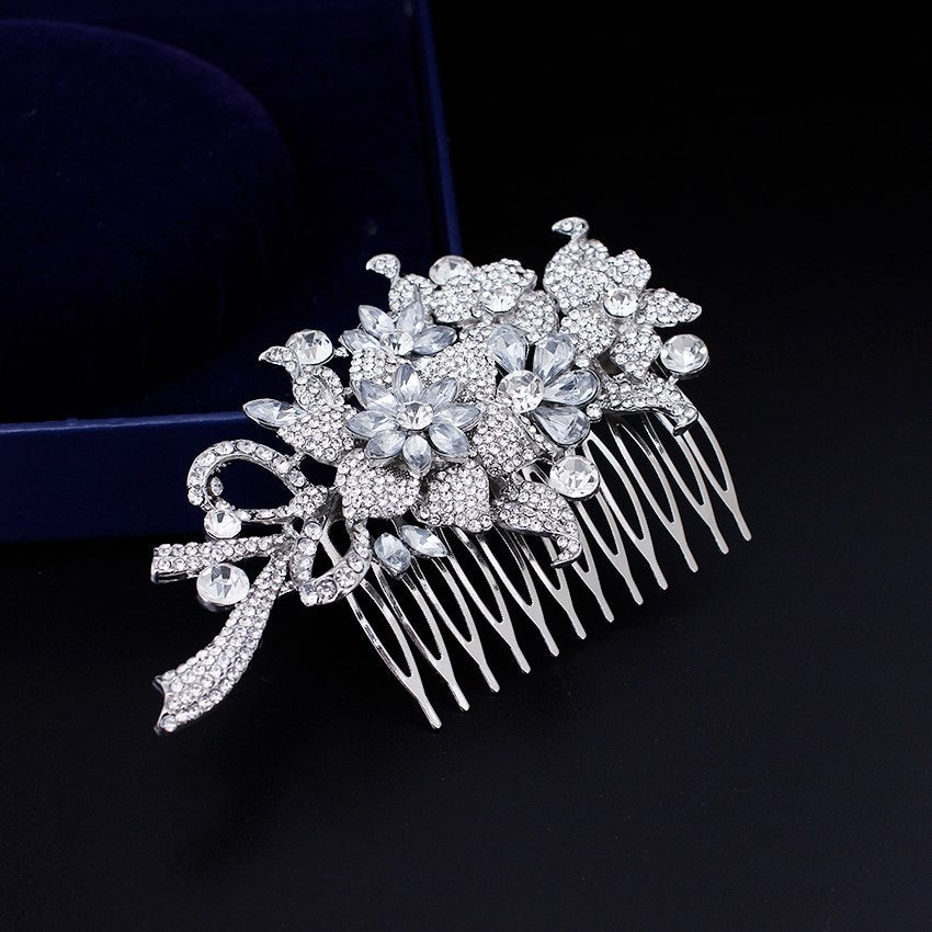 """Auna"" - Crystal Bridal Hair Comb"
