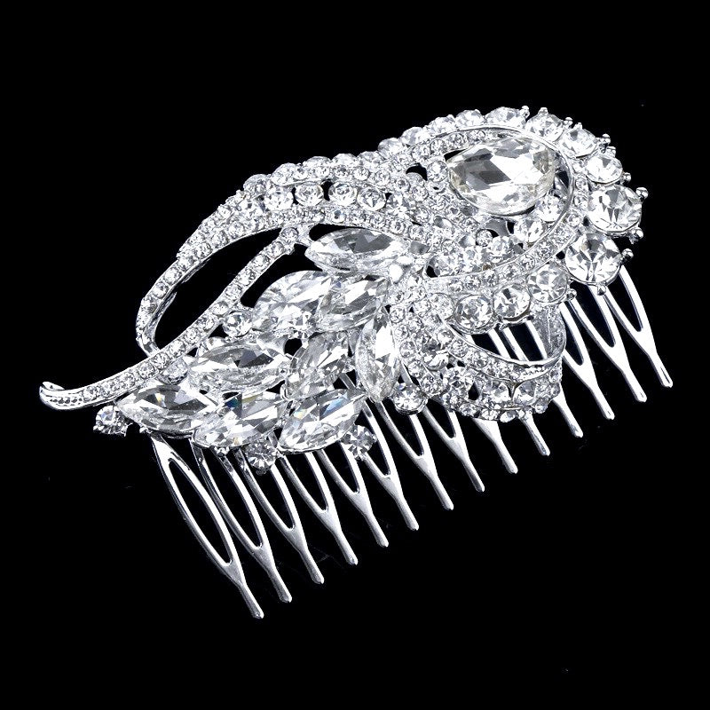 """Kimberly"" - Vintage Crystal Bridal Hair Comb"