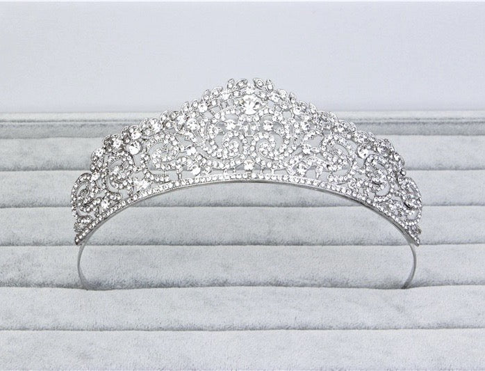 """Belinda"" - Wedding Crystal Tiara"
