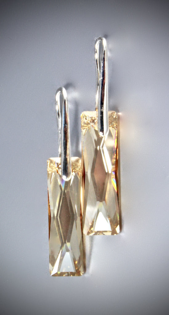 """Zarrah"" - Swarovski Queen Baguette Earrings"