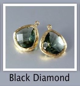 """Passion"" - Black Diamond Cubic Zirconia Earrings"