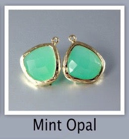 """Passion"" - Mint Opal Cubic Zirconia Earrings"