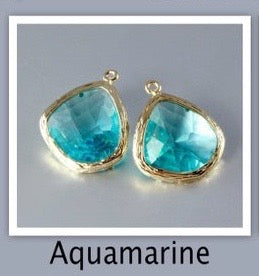 """Passion"" - Aquamarine Cubic Zirconia Earrings"