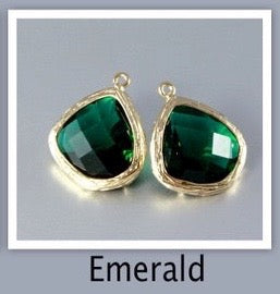 """Passion"" - Emerald Cubic Zirconia Earrings"