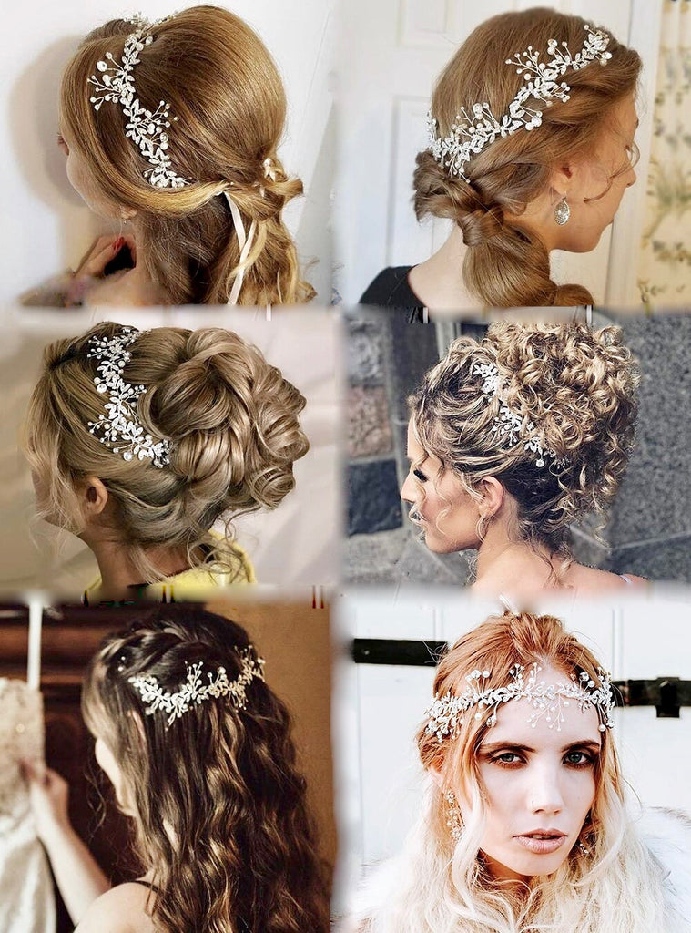 Wedding Hair Accessories - Pearl and Crystal Bridal Headband - Available in Rose Gold, Silver and Yellow Gold