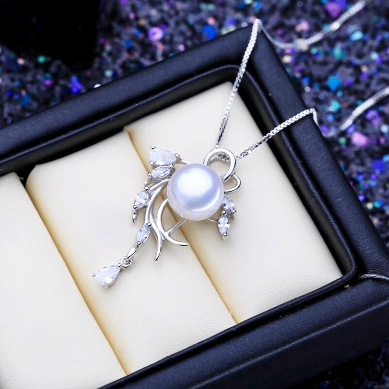 """Casablanca"" - Freshwater Pearl and Sterling Silver Bridal Necklace"