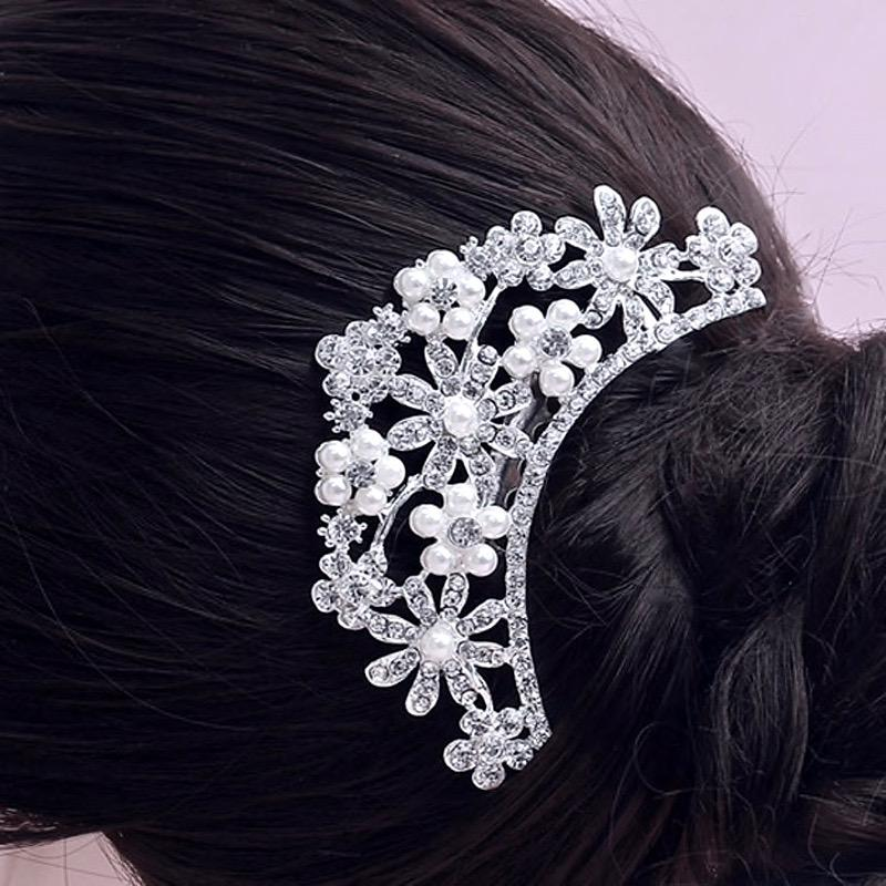 Wedding Hair Accessories - Pearl and Crystal Bridal Hair Comb