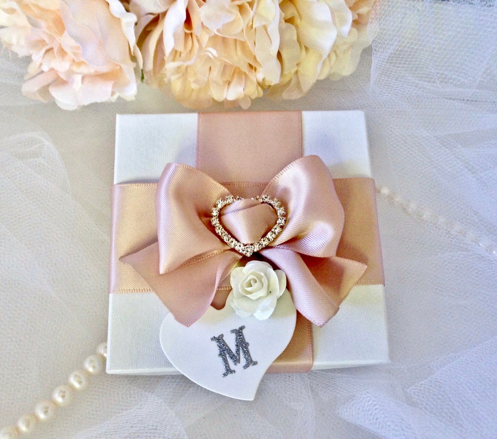 Wedding Accessories -Personalized Bridal Party Jewelry Gift Box - More Colors Available