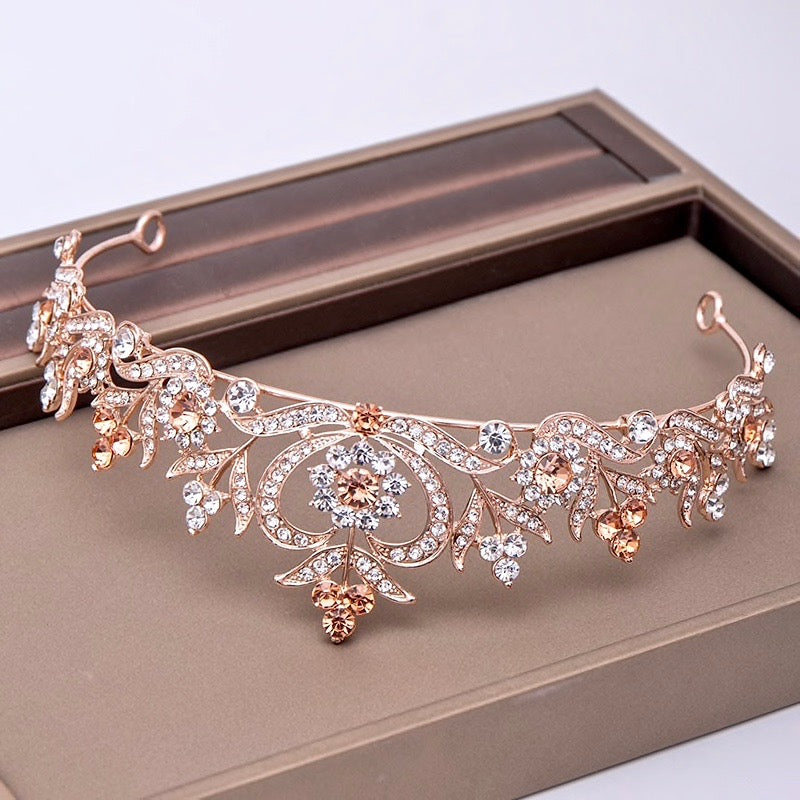 Wedding Hair Accessories - Rhinestone Bridal Tiara - Available in Silver, Yellow Gold and Rose Gold