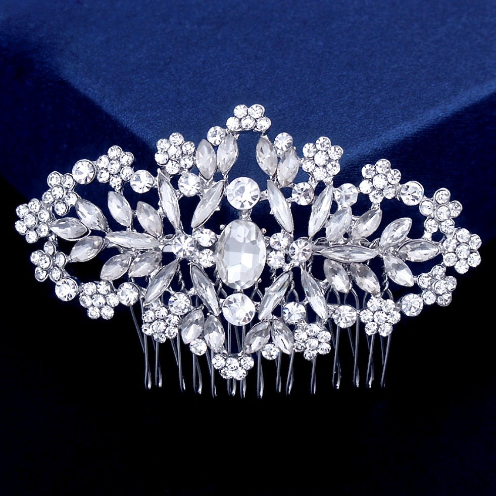 """Helena"" - Crystal Bridal Hair Comb"
