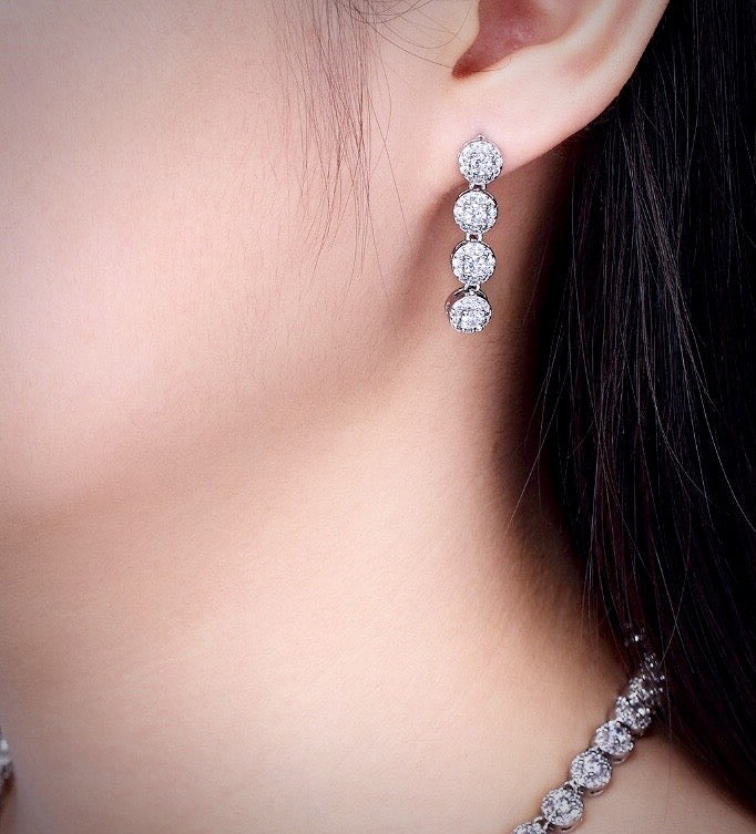 Silver Cubic Zirconia Bridal Jewelry Set