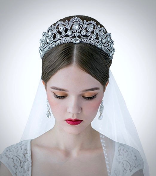 Wedding Hair Accessories - Silver Rhinestone Bridal Tiara