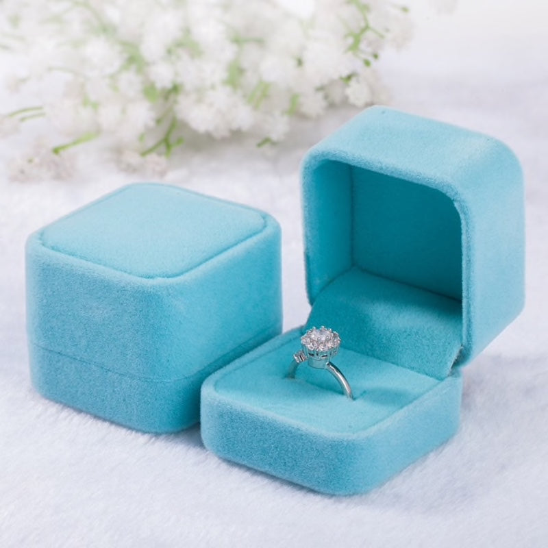 Wedding - Square Velvet Ring Boxes - More Colors Available