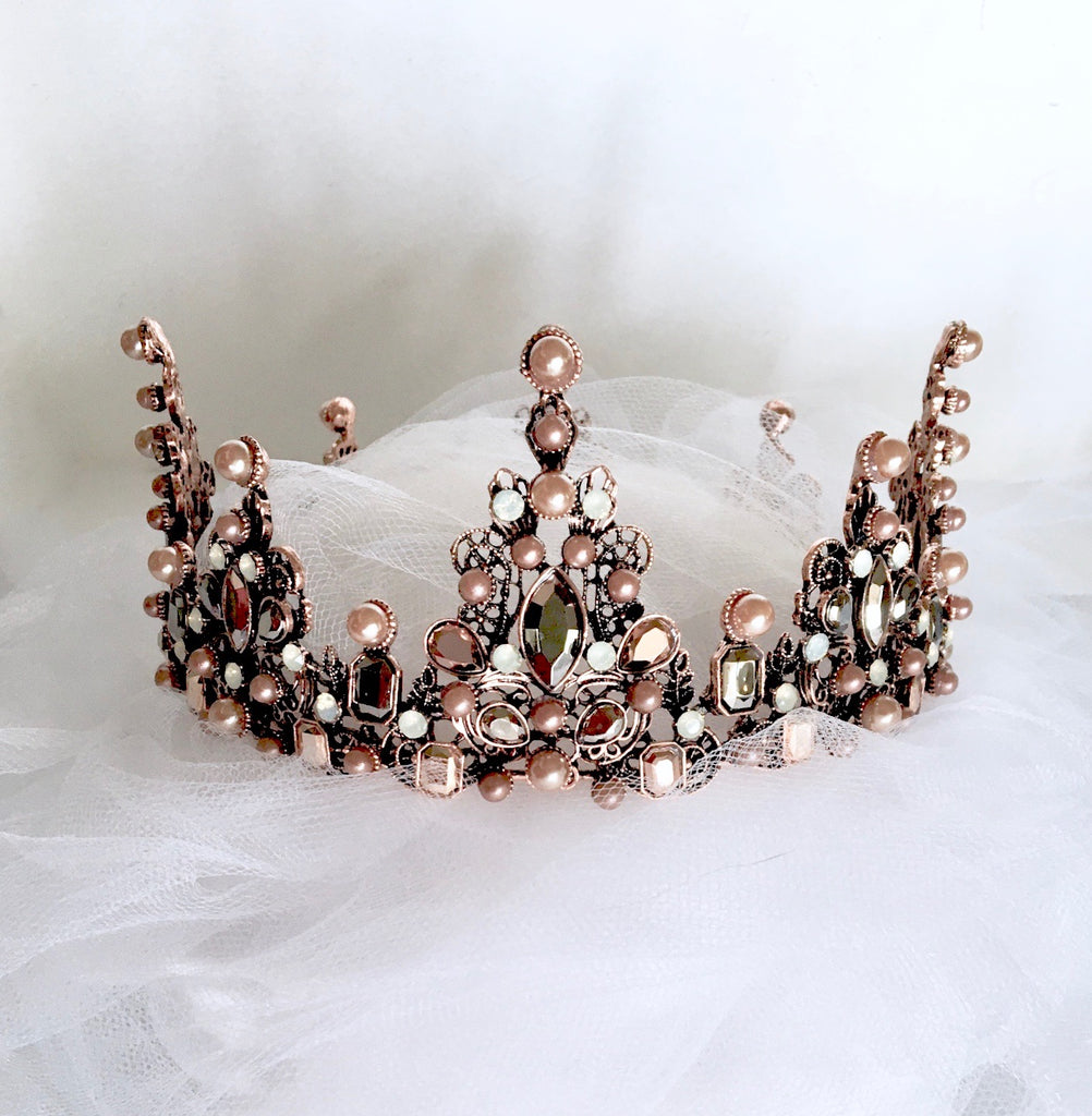 Wedding Hair Accessories - Baroque Pearl Bridal Crown Tiara